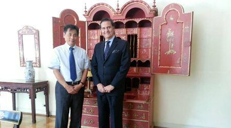 葡萄牙驻华大使会晤世贸通集团董事长Winner Xing博士