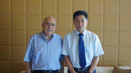 塞浦路斯奥米卢议长接见世贸通董事长