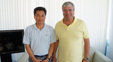 塞浦路斯交通部长会见世贸通集团董事长
