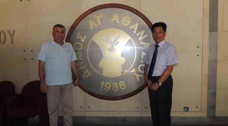 塞浦路斯利马索市长会见世贸通集团董事长