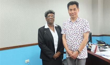 世贸通总裁访问安提瓜和巴布达投资局