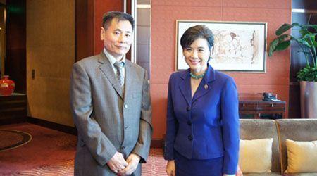 世贸通集团董事长Winner Xing博士会晤美国国会议员赵美心女士